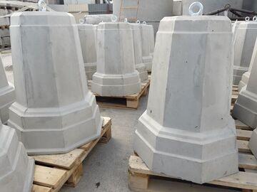 Столбик бетонный Пирамида