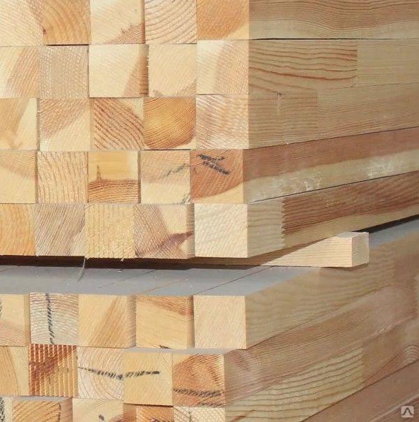 Брусок камерной сушки обрезной хвойныет породы 50х50, цена в Екатеринбурге от компании Лес-С